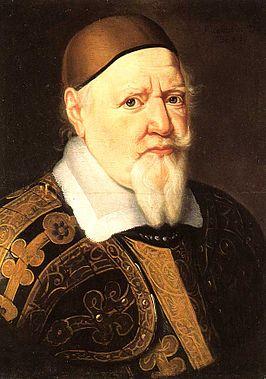 Geschilderd portret van hertog August, in zijn tijd eigenaar van de grootste particuliere bibliotheek van Duitsland, die een aantal boeken uit de bibliotheek van Pauw aankocht.