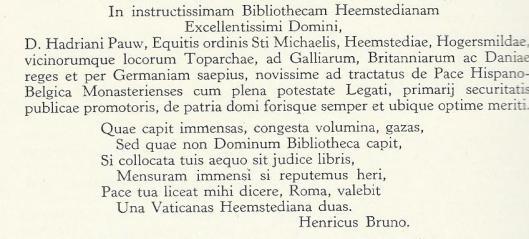 De Neolatijnse tekst van Henricus Bruno, 1649