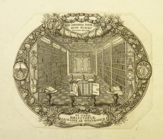 Exlibris bibliotheek van Z Uffenbach uit Frankfurt