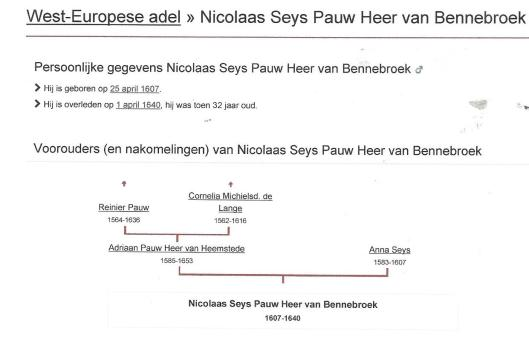 Fragmentgenealogie Nicolaas Pauw