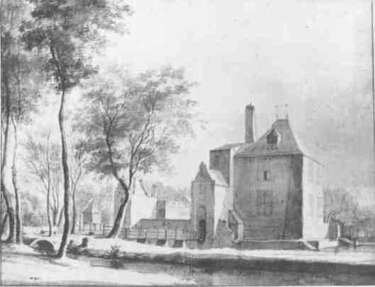 Hofstede de Scans in Beverwijk, getekend door Roeland Roghman (1627-1692)