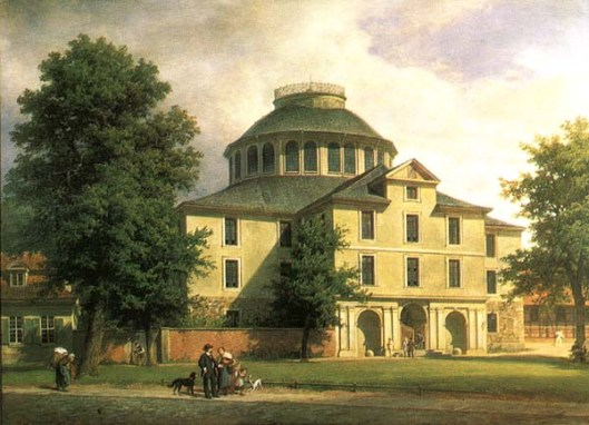 Bibliotheksrotunde Wolfenbüttel, gebouwd tussen 1705 en 1713 en in 1887 gesloopt toen een nieuwe bibliotheek is tot stand gekomen