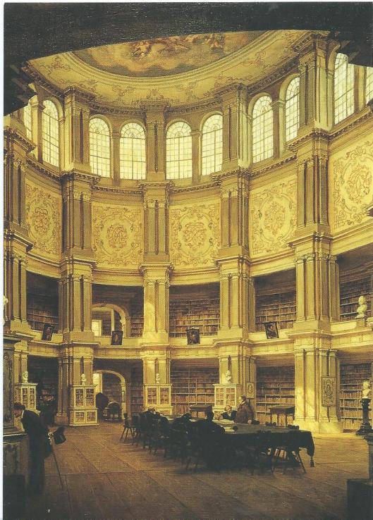 Schilderij door Louis Tacke van de Bibliotheksrotunde in Wolfenbüttel