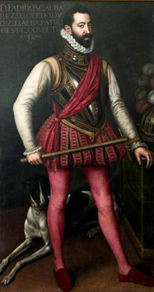 Don Fadrique (Frederik), Spaans legerleider, door Antonius Mor