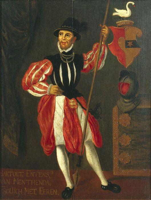 Portrettekening van de uit Groningen afkomstige geus Mentens