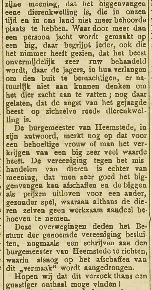 Biggenvangen. Uit: Haarlem's Dagblad van 25-11-1892