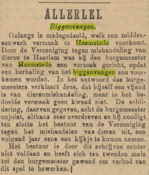 Biggenvangen. Uit Algemeen Handelsblad van 27-11-1892