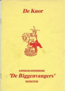 Het laatste programma van carnavalsvereniging 'De Biggenvangers' uit 1990