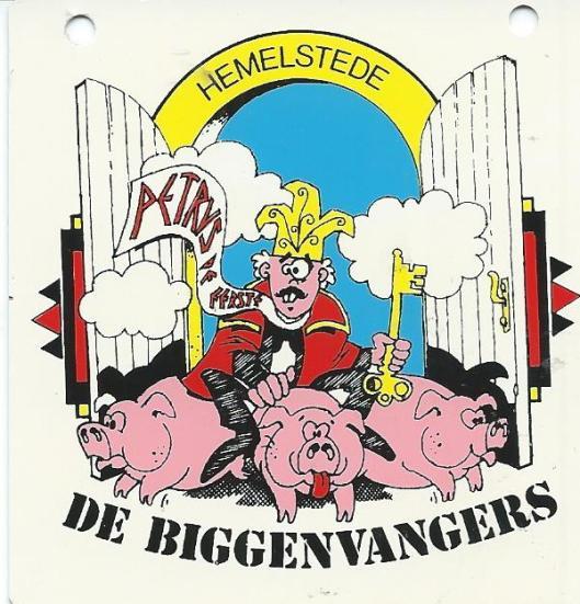 Plaatje van 'De Biggenvangers' in Hemelstede ofwel Biggenstede