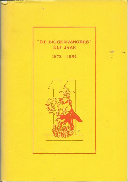 Vooromslag van 'De Biggenvangers' elf jaar 1973-1984