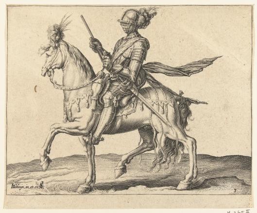 Gravure van ritmeester door Cornelis Claeszoon Visscher