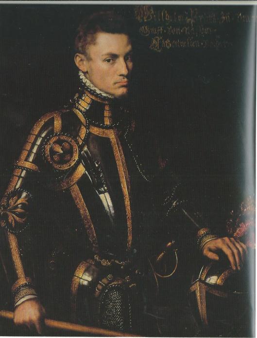 Portret van de jonge Willem van Oranje, page van Karel V,1555, door Antonius Mor (hofschilder van Karel V) (Staatliche Museen Kassel)