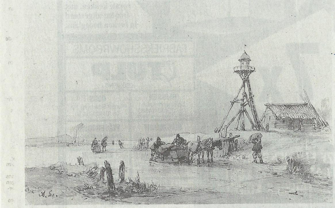 De lantaarn ofwel vuurbaak aan de mond van het spaarne for De lantaarn rotterdam