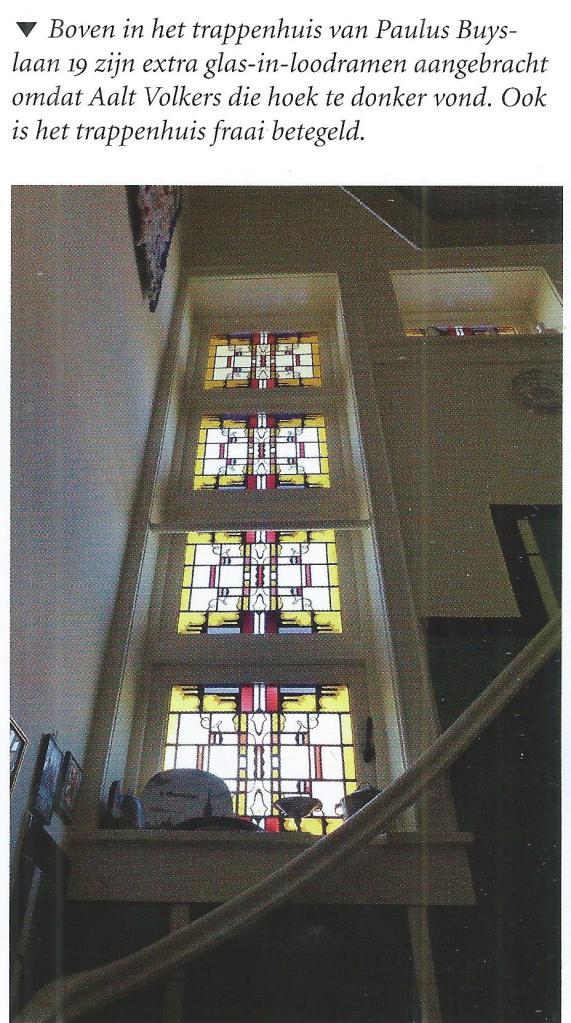 Glas-inóod ramen in het pand van A.Volkers, Paulis Buyslaan 191 Heemstede (